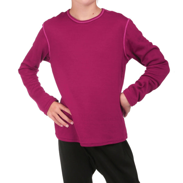 Hot Chillys Youth Bi-Ply Crewneck