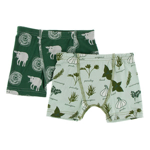 Kickee Pants Kids' Boxer Briefs Set