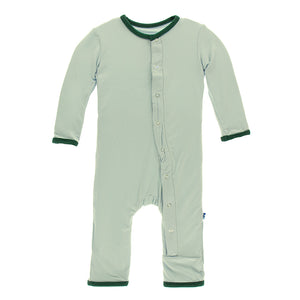 Kickee Pants Solid Coverall with Snaps