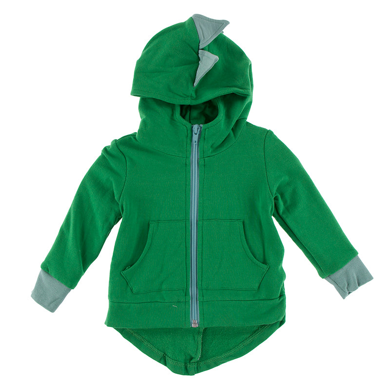 Kickee Pants Kid's Solid Fleece Zip-Front Dino Hoodie