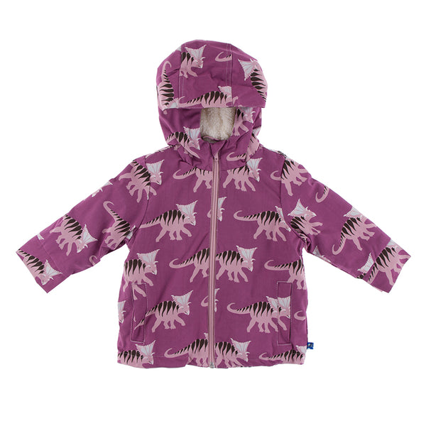 Kickee Pants Print Sherpa-Lined Raincoat