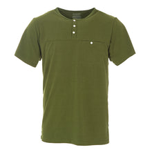 Load image into Gallery viewer, Kickee Pants Men's Solid Short Sleeve Performance Jersey Henley