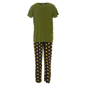 Kickee Pants Men's Print Short Sleeve Pajama Set