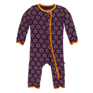 Kickee Pants Print Muffin Ruffle Coverall with Snaps