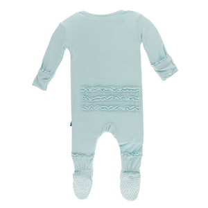 Kickee Pants Solid Muffin Ruffle Footie with Snaps