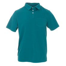 Load image into Gallery viewer, Kickee Pants Men's Solid Short Sleeve Performance Jersey Polo