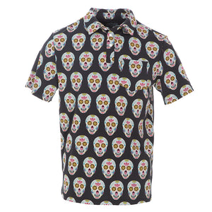 Kickee Pants Men's Print Short Sleeve Performance Jersey Polo