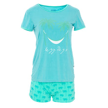 Load image into Gallery viewer, Kickee Pants Women's Print Short Sleeve Fitted Pajama Set with Shorts