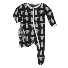 Load image into Gallery viewer, Kickee Pants Print Footie with Zipper