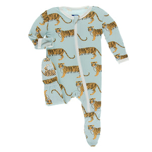 Kickee Pants Print Footie with Zipper