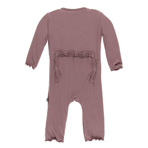 Kickee Pants Solid Muffin Ruffle Coverall with Zipper