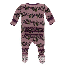 Load image into Gallery viewer, Kickee Pants Print Muffin Ruffle Footie with Zipper