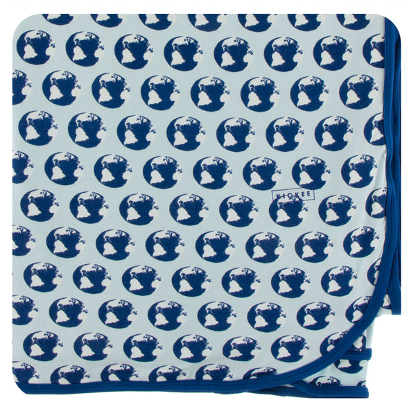 KICKEE Print Throw Bamboo Blanket
