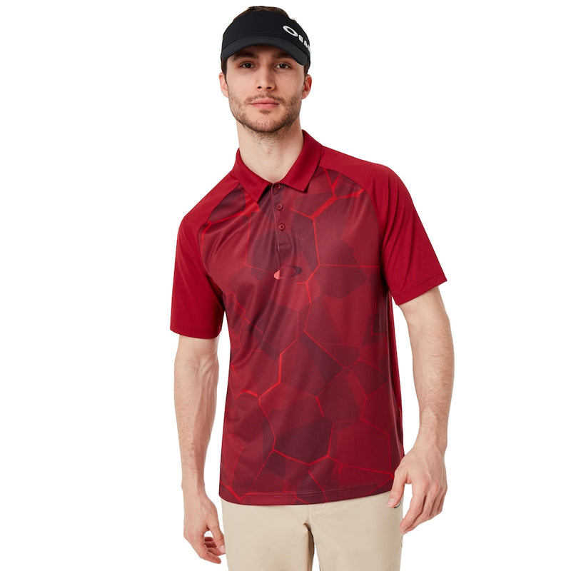 OAKLEY MIRROR GRAPHIC POLO MEN GOLF POLO SHIRT