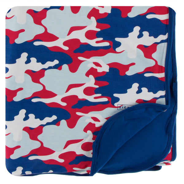 KICKEE Print Double Layer Throw Blanket
