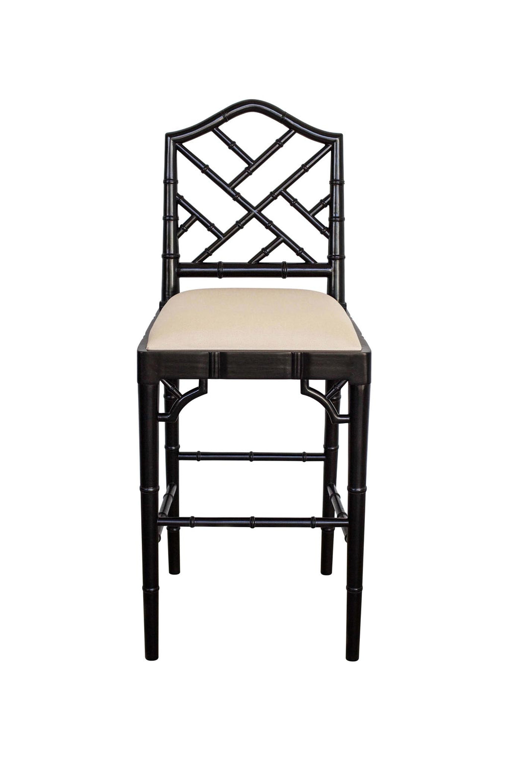 Classic Chippendale stool - black
