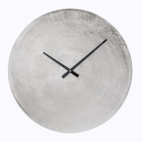 Antique Nickel Wall Clock