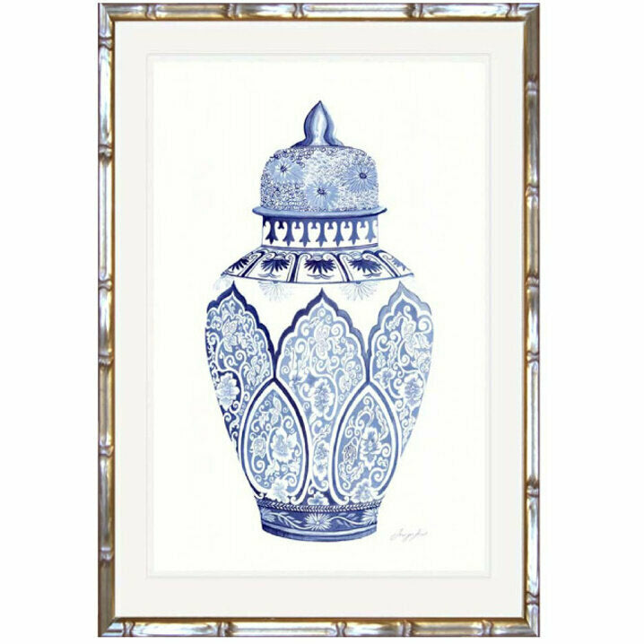 Traditional Ginger Jar 3 Framed