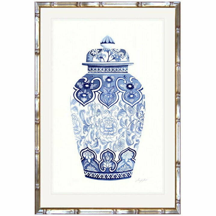 Traditional Ginger Jar 4 Framed