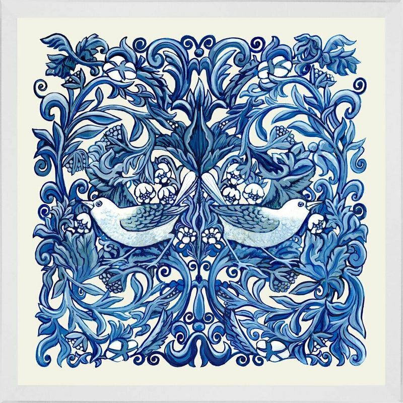 Classic Blue and White Lovebirds 1