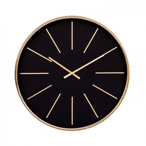 Black & Brass Regency Wall Clock