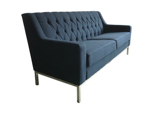 French navy 3 seat sofa