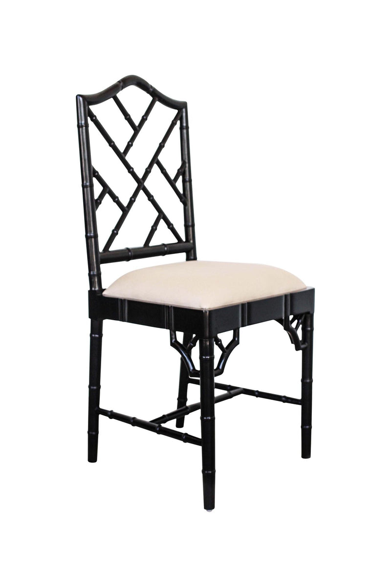 Classic Chippendale dining chair - black