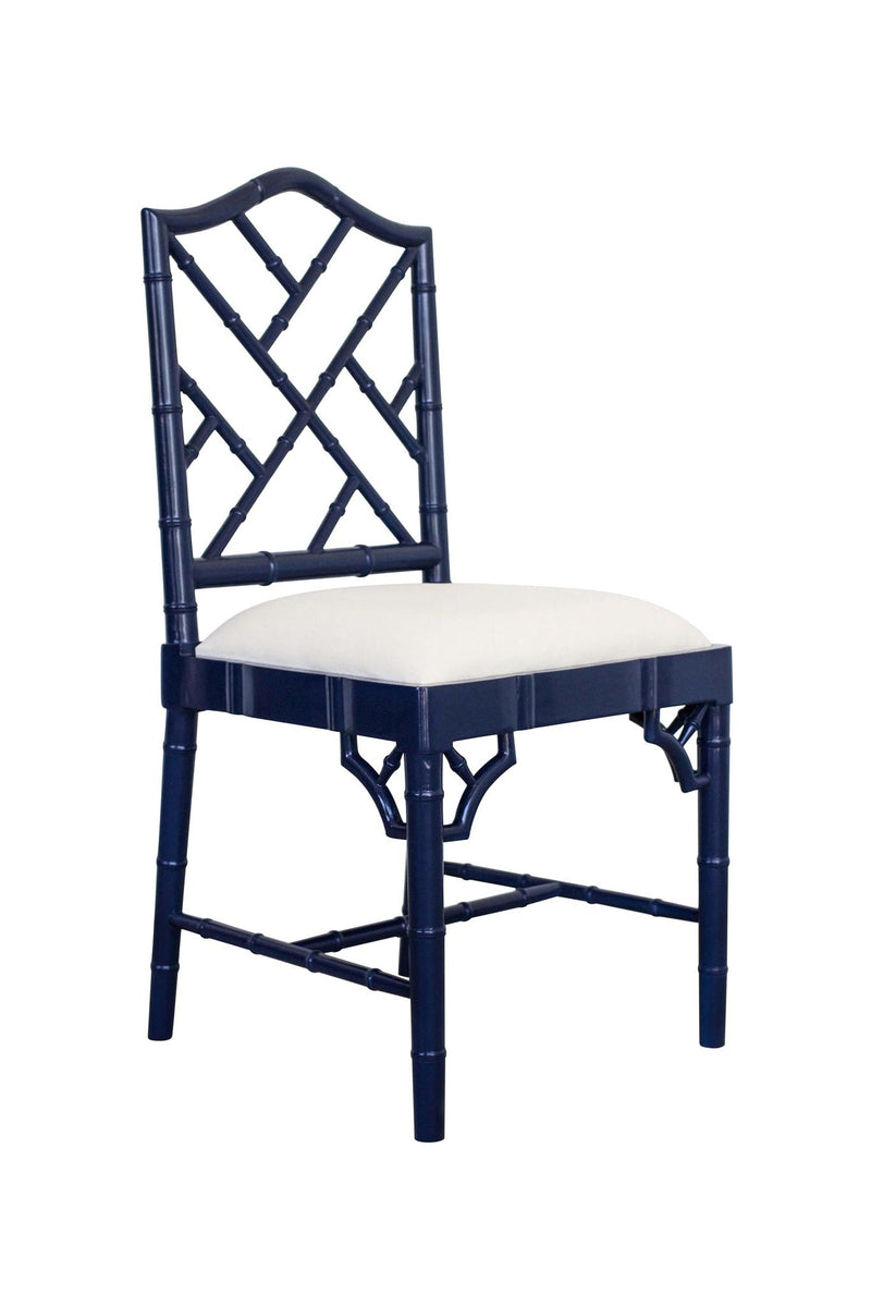 Classic Chippendale dining chair - navy blue