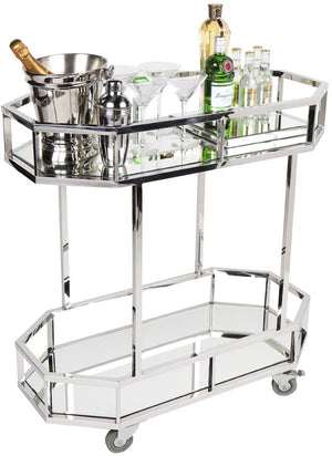 Manhattan Drinks Trolley - Silver