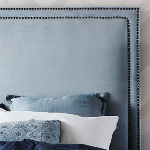 Haven Regency Studded Bedhead king - Dove Grey