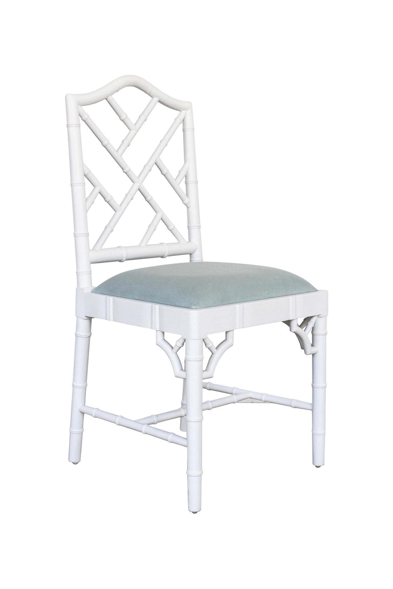 Classic Chippendale dining chair - duck egg blue