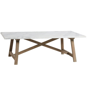Marble Top Timber Coffee Table