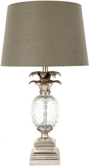 Glass Pineapple Lamp - Antique Silver