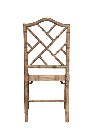Classic Chippendale dining chair - Natural aged oak