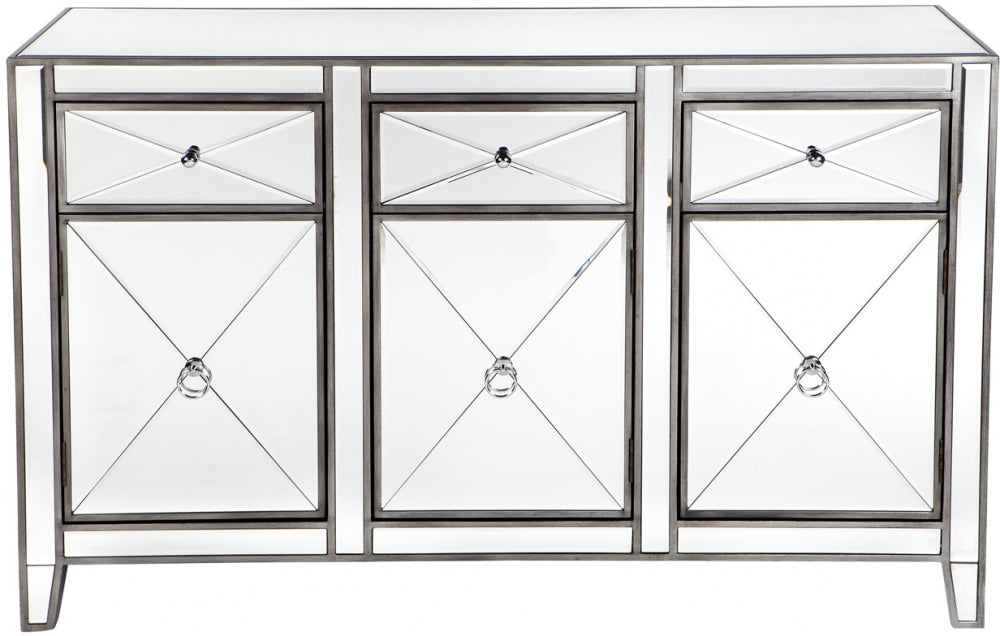 Mirrored Buffet - Antique Silver