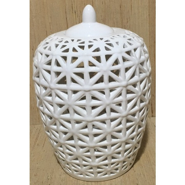 White Decorative Ginger jar