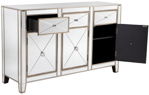 Mirrored Buffet - Antique Gold