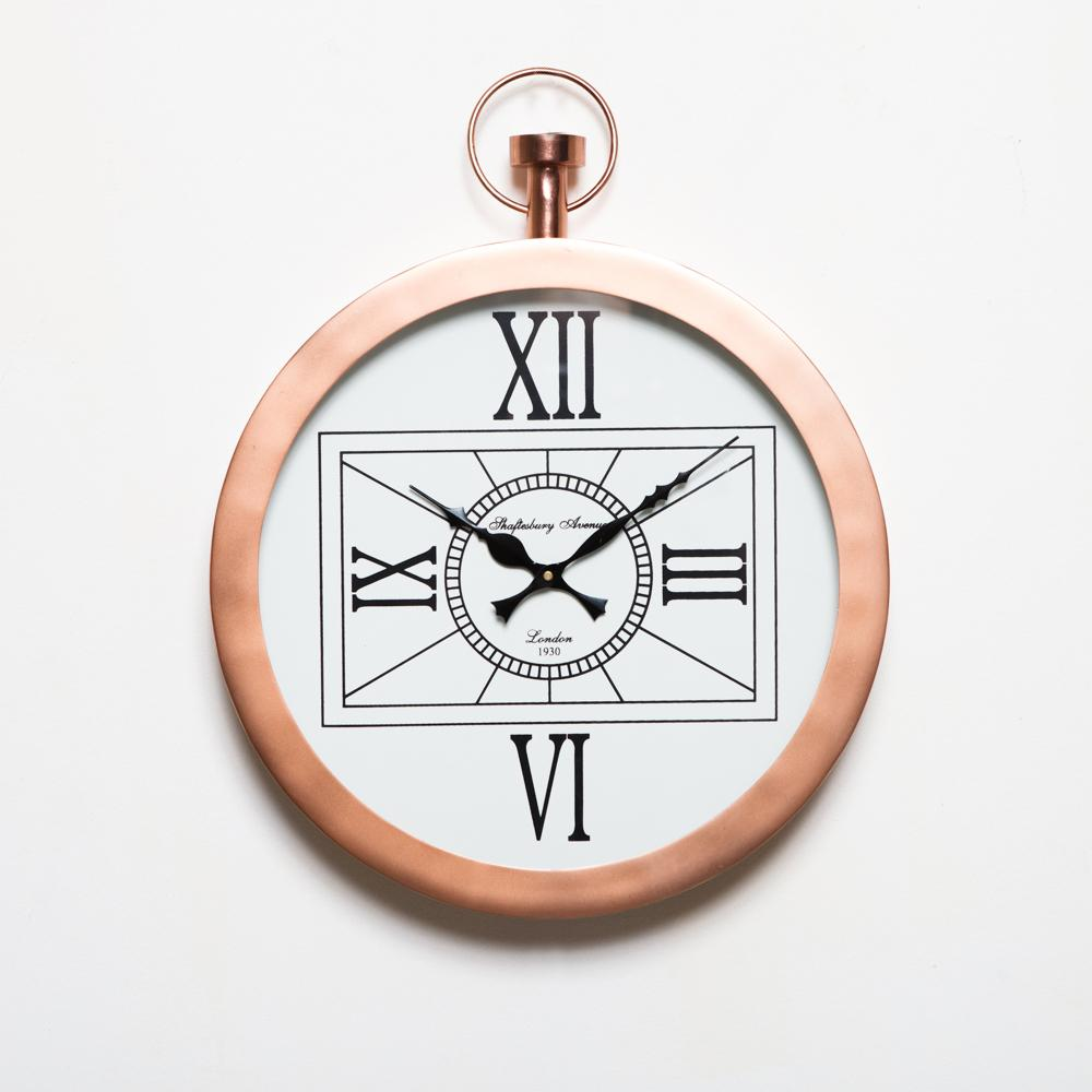 London Copper Clock - 35cm