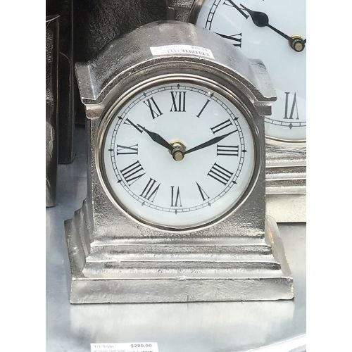 Hamptons Clock - Nickel Small