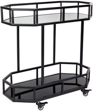 Manhattan Drinks Trolley - Black