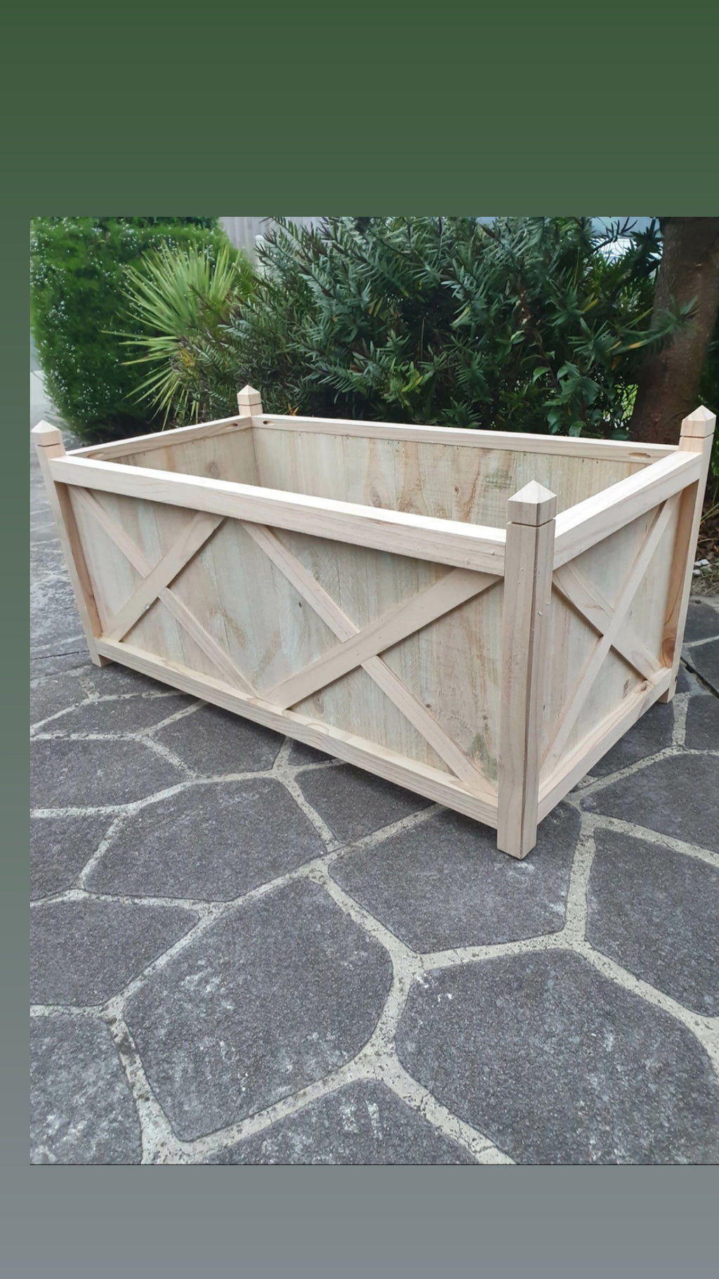 Hampton planter box long - natural