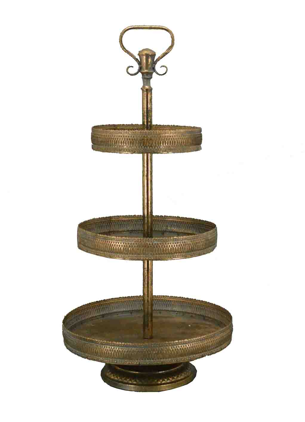 3 Tier Cake Stand Antique Gold