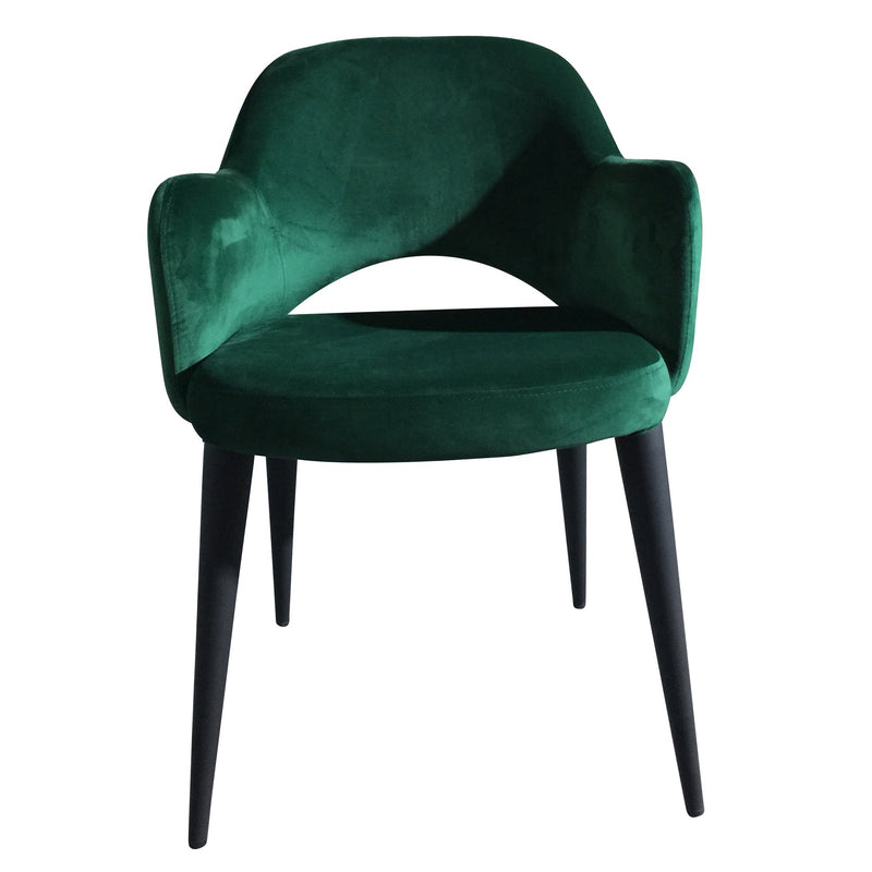 Toulon velvet dining chair - green