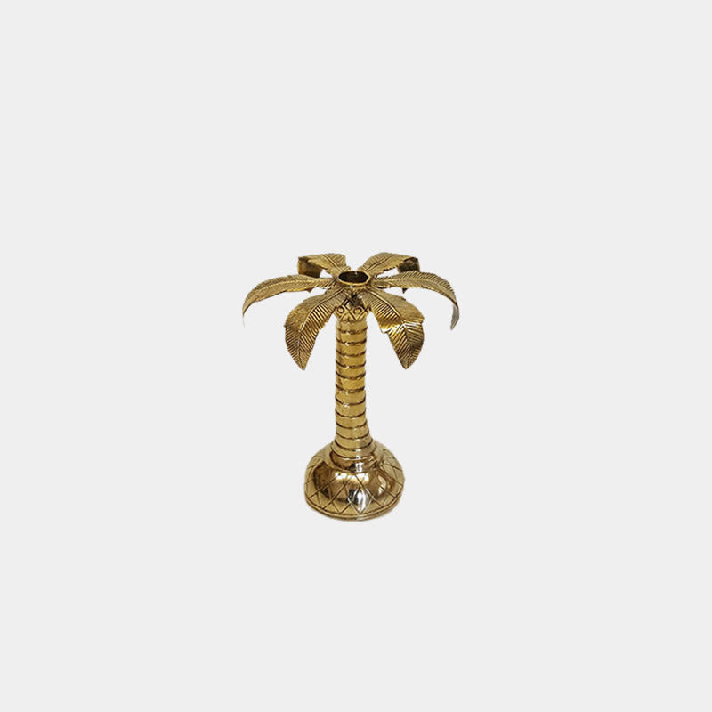Brass Palm Candlestick