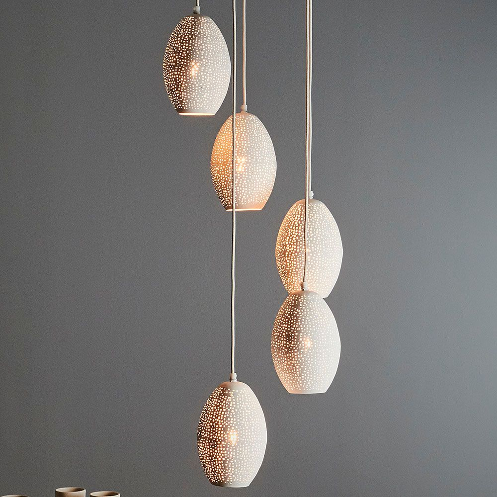 CONSTELLATION 5 BALLOON PENDANT LIGHT CLUSTER -white - Interior Collections