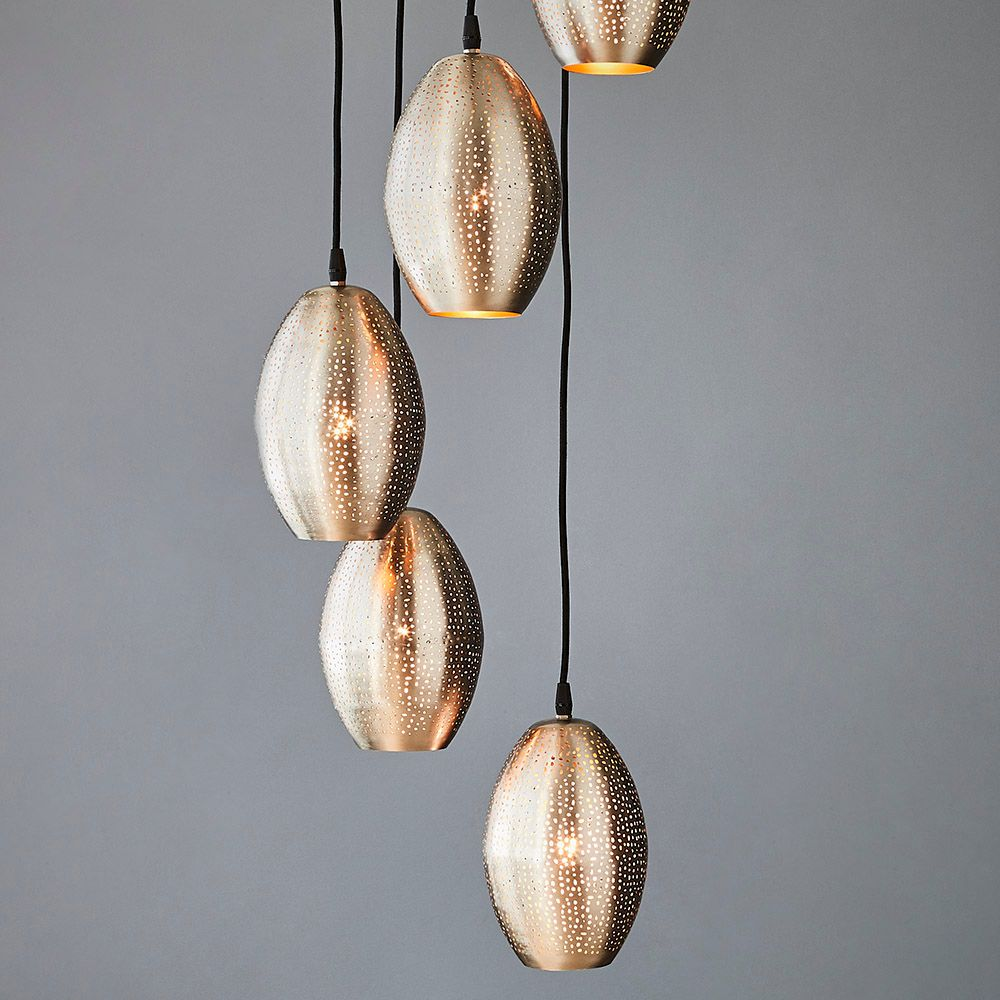 CONSTELLATION 5 BALLOON PENDANT LIGHT CLUSTER -NICKEL Interior Collections