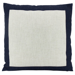 Off White Linen border cushion