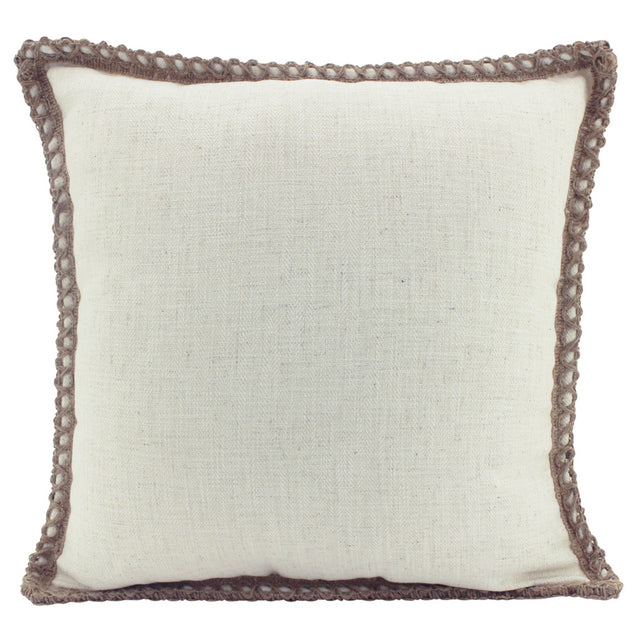 Off White Linen and Jute cushion