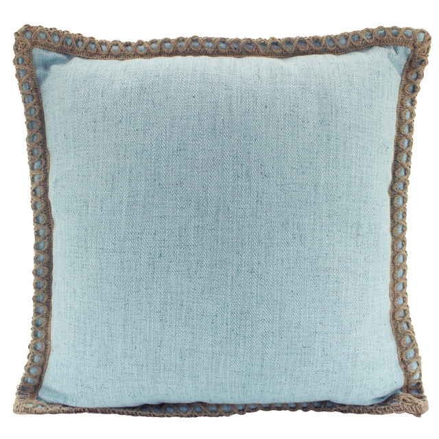 Sky Blue Linen and Jute cushion