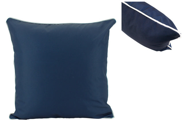 Large Navy Outdoor Cushions - pair
